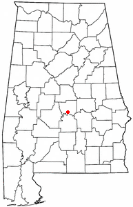 Location of Autaugaville, Alabama