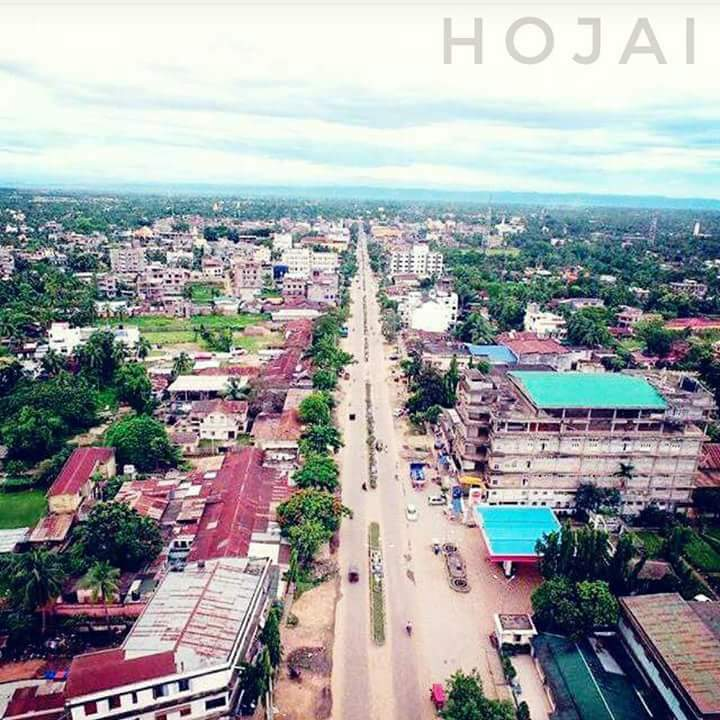 Aerial view of Hojai Town