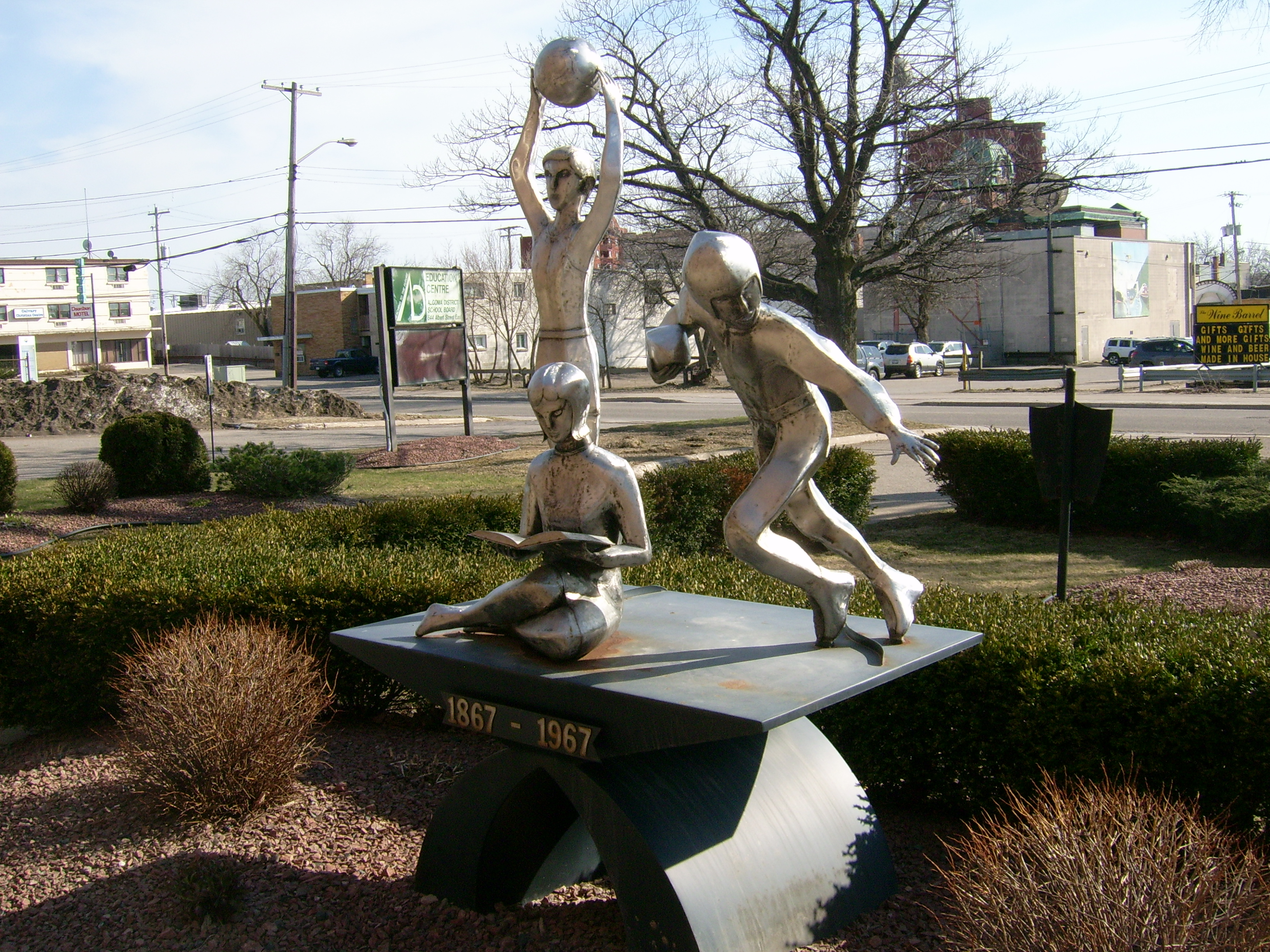 FileAlgoma District School Board SculptureJPG Wikimedia Commons - 10 things to see and do in the algoma district