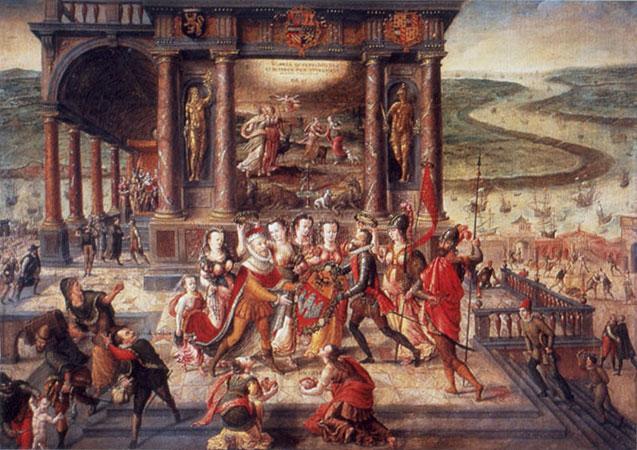 Allegorie auf die Übernahme von Antwerpen