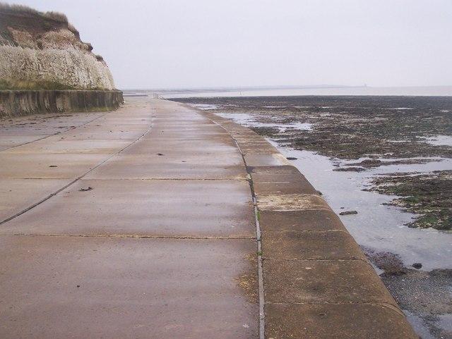 Along Sea Wall Promenade, near Greenham Bay - geograph.org.uk - 1035508