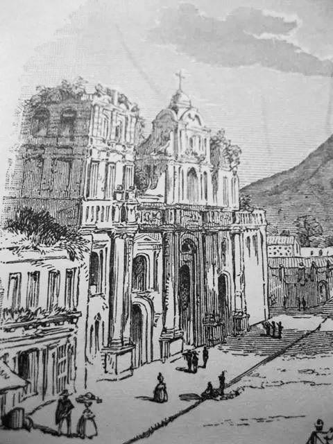 Catedral de Antigua Guatemala después de los terremotos de Santa Marta