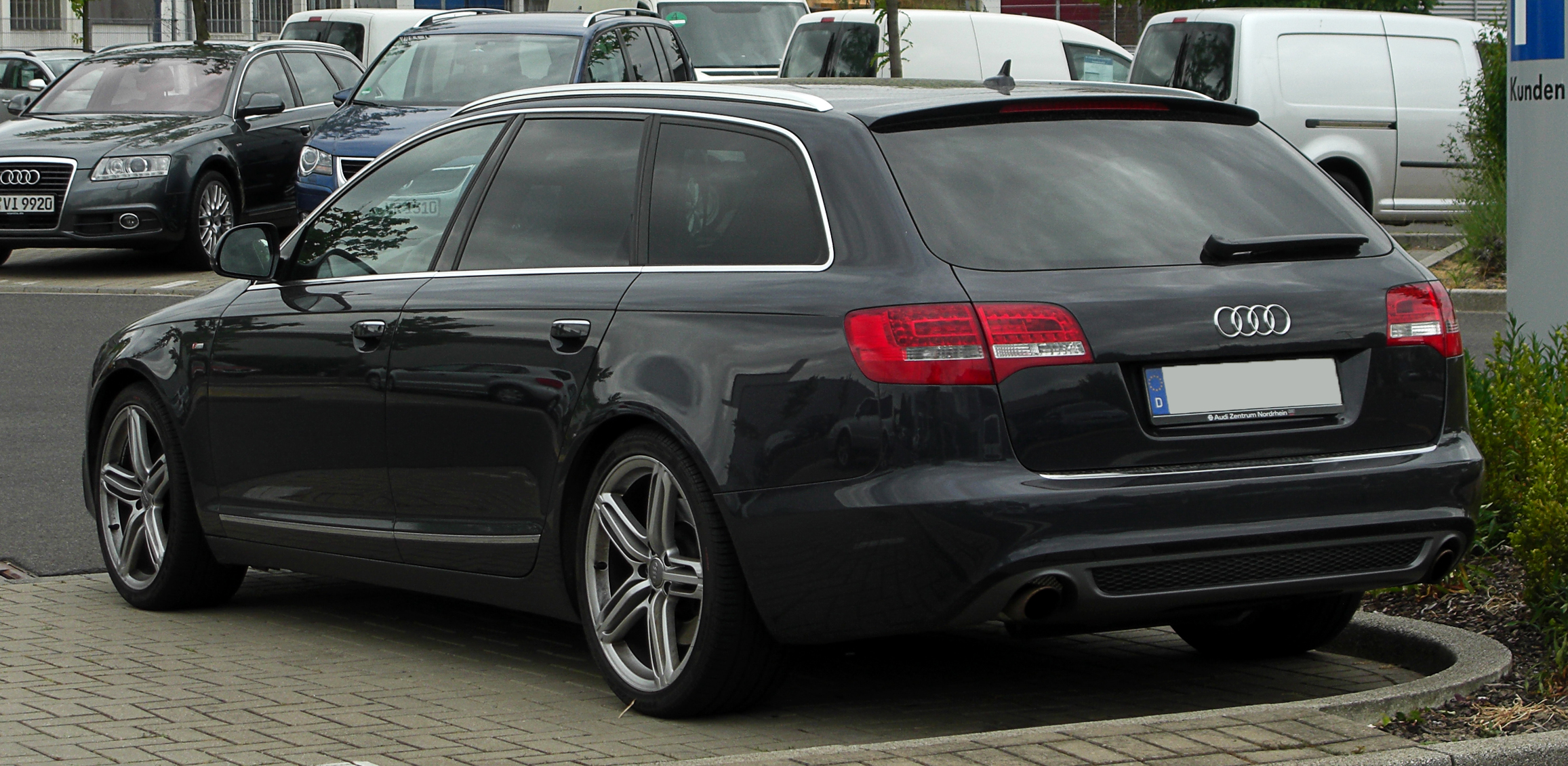File Audi A6 Avant S Line C6 Facelift Heckansicht 28