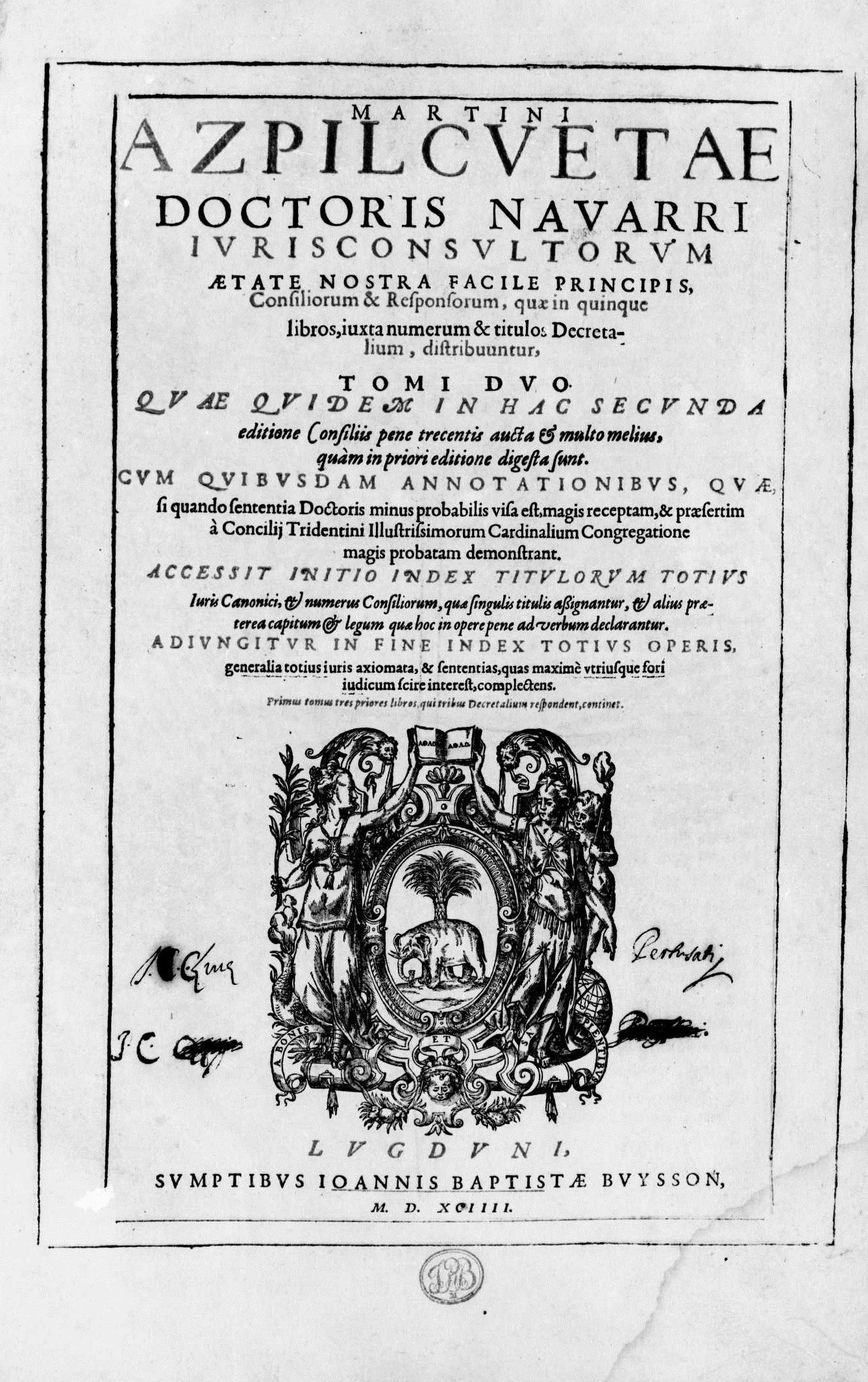 ''Consilia et responsa'', 1594