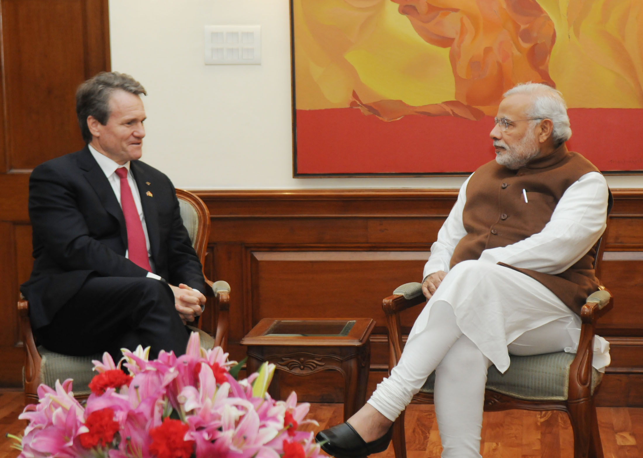 File:Bank of America Chairman and CEO Brian T. Moynihan meets PM Modi