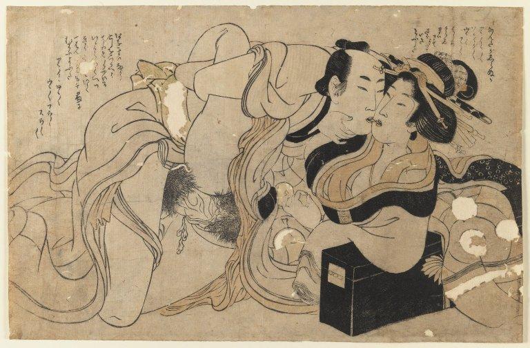 File:Brooklyn Museum - Amorous Couple (woodblock print) - Kitagawa Utamaro - 2.jpg