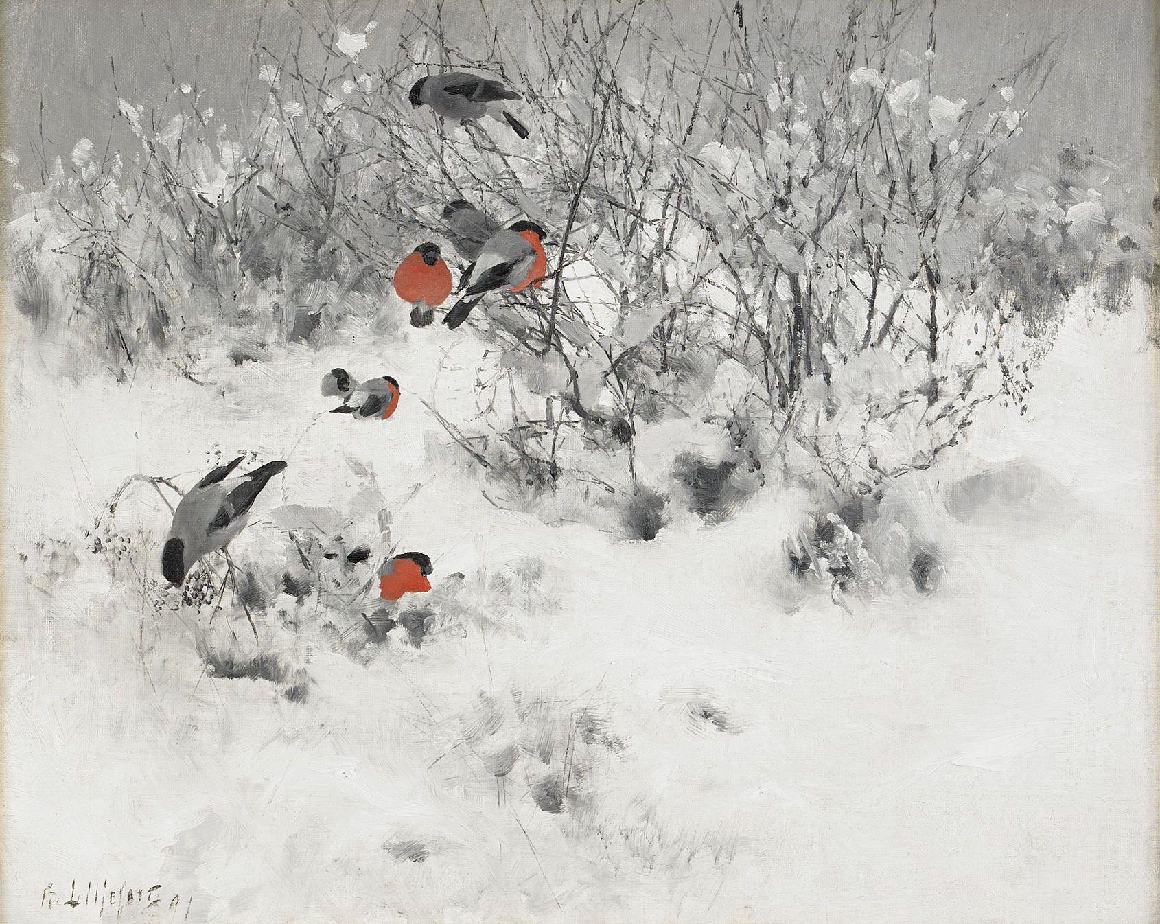 Winter Scenery Paintings Canada