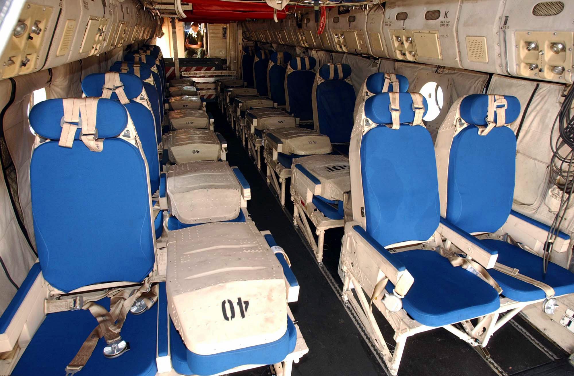 C 2a Greyhound Logistics Aircraft File:C-2A interior DN-...