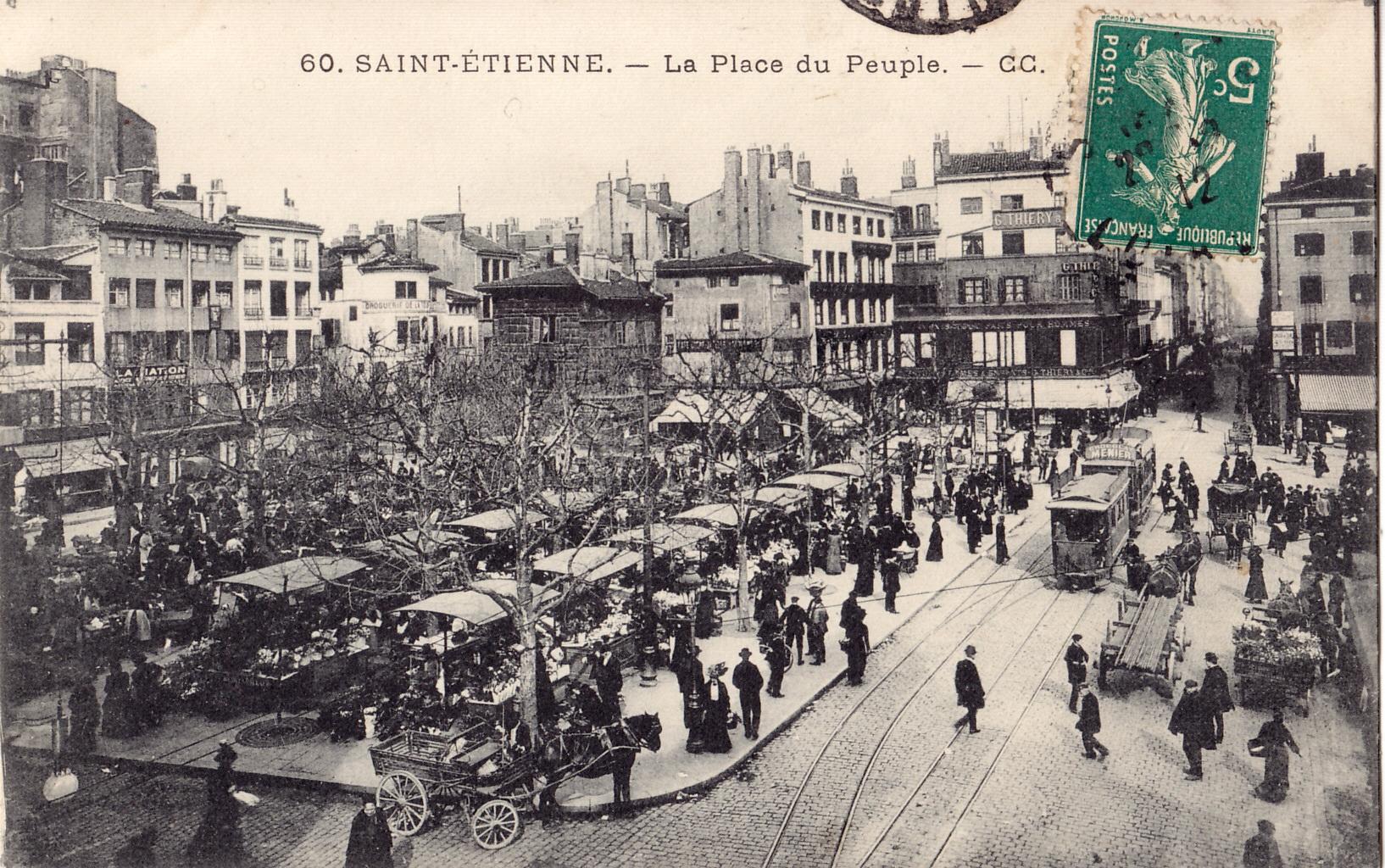 File cc 60 saint etienne la place du for Au saint roch hotel jardin