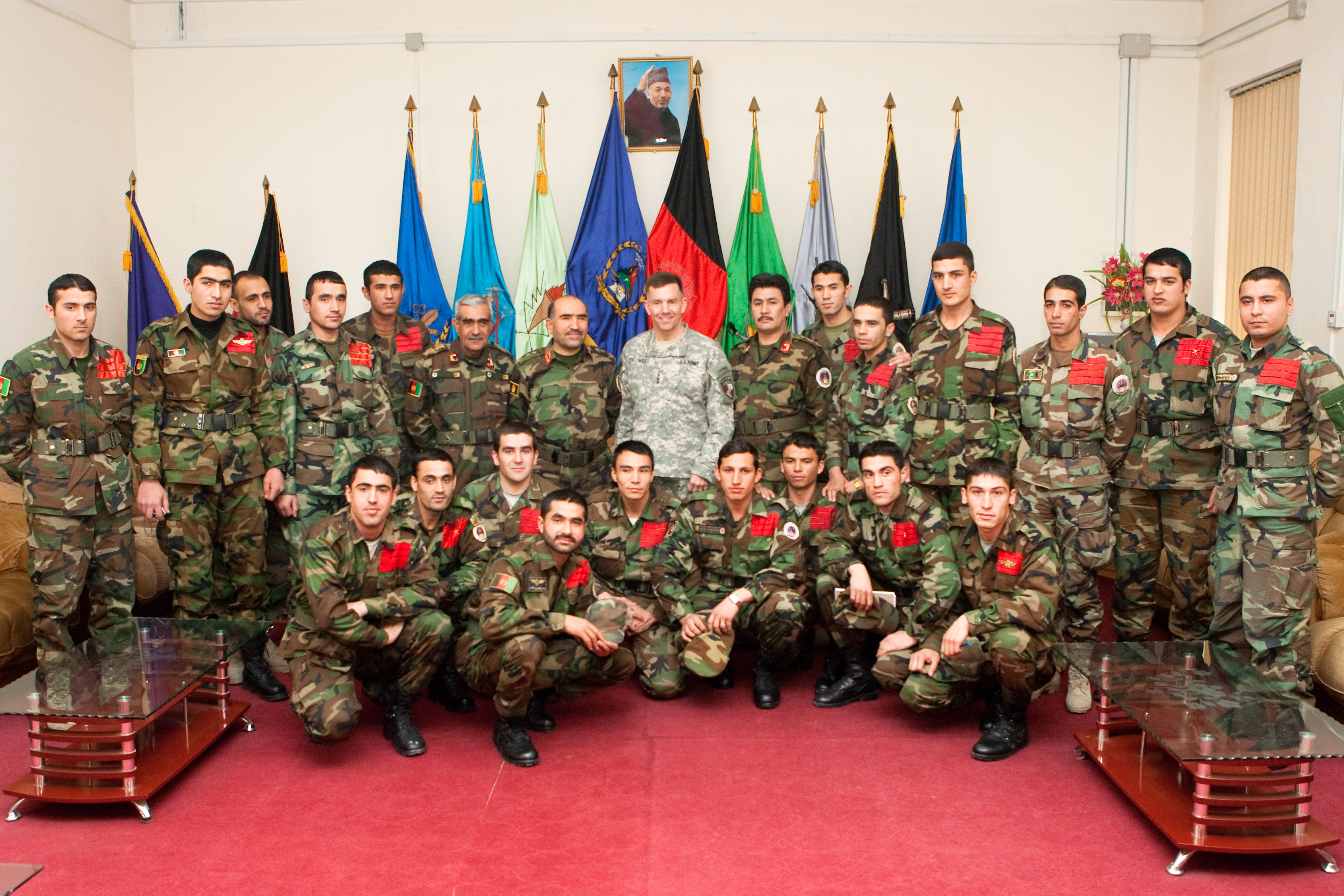 File:Caldwell with cadets of class 1388 at the National Military Academy of  Afghanistan.
