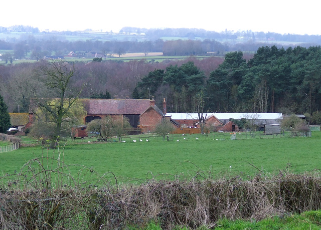 Camp Farm, near Highgate Common, Staffordshire - geograph.org.uk - 366721