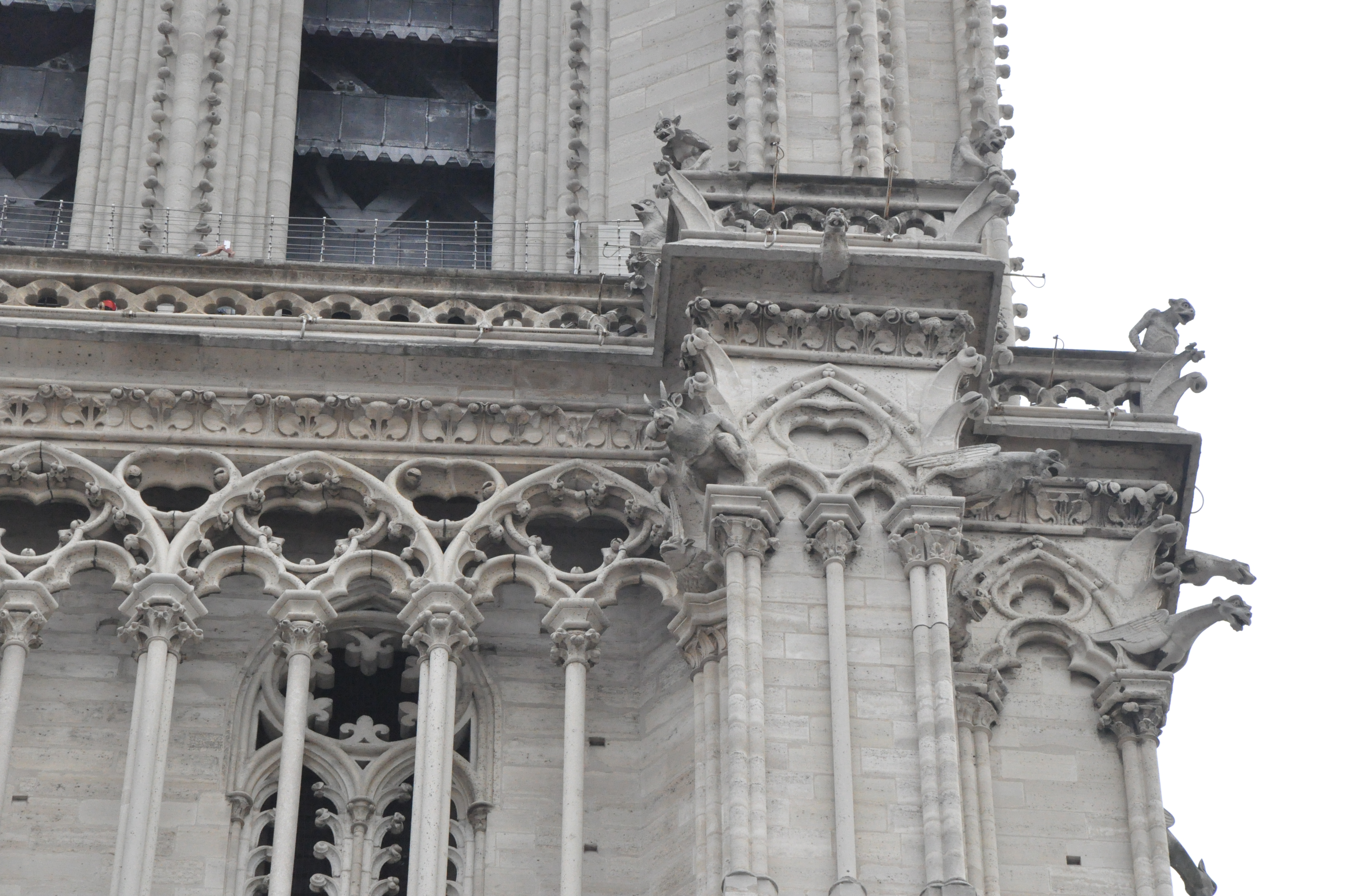 FileCathedral Notre Dame De Paris France Gargoyles In West Facade