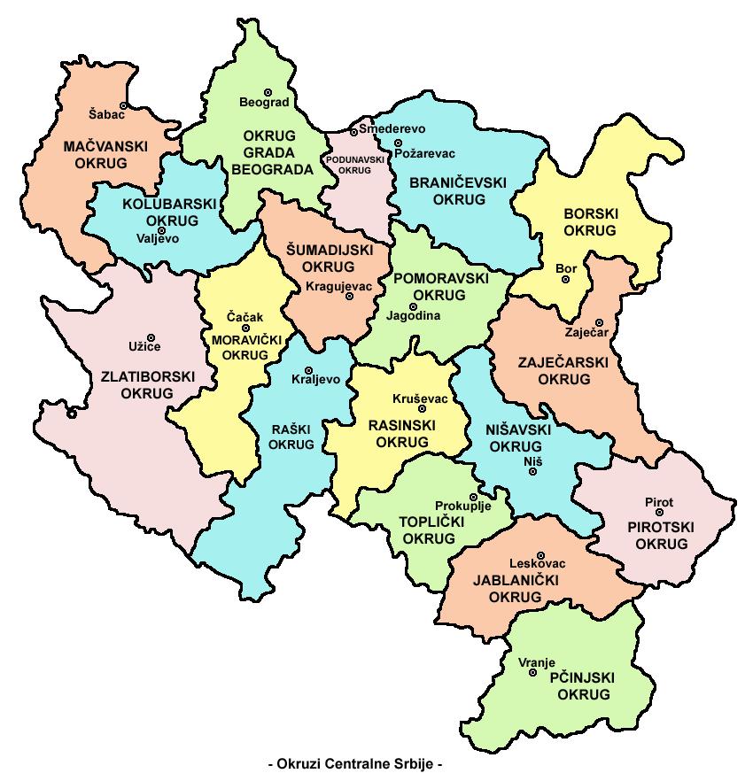 centralna srbija mapa Datoteka:Central serbia districts sr lat.png – Wikipedija centralna srbija mapa
