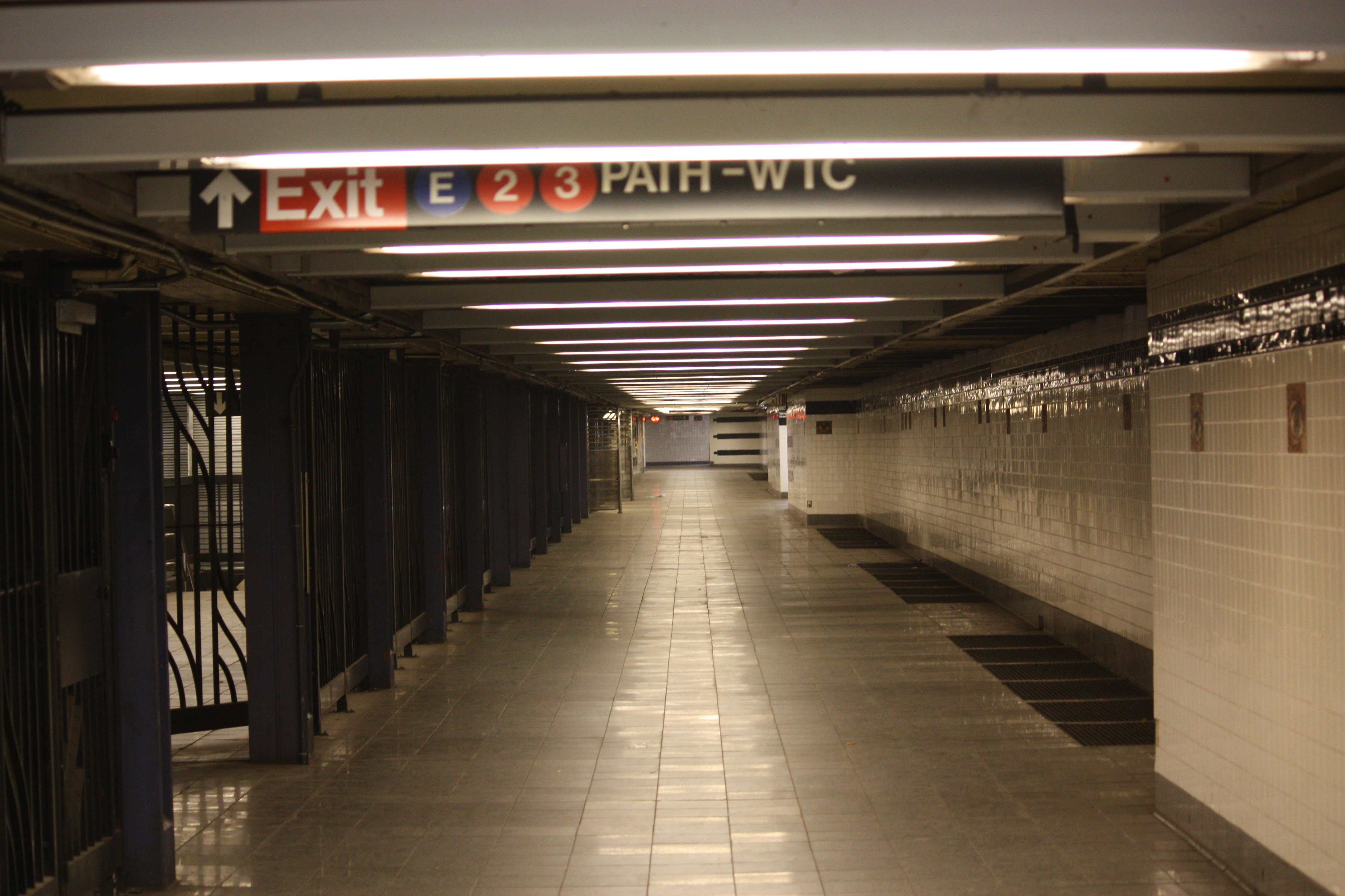Nyc Subway Map 14 Th Street 2 Train To Park Place.Chambers Street World Trade Center Park Place Cortlandt Street