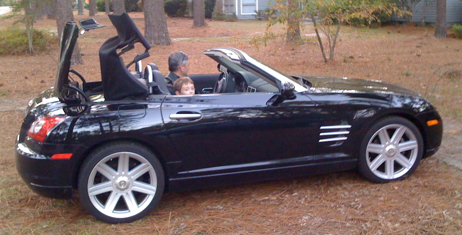 file chrysler crossfire convertible black wikimedia commons. Black Bedroom Furniture Sets. Home Design Ideas