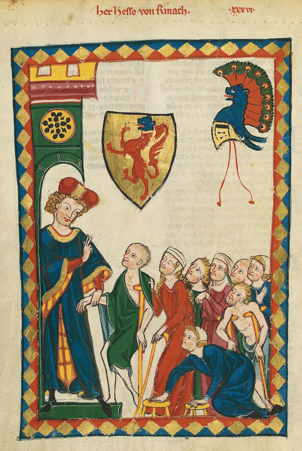 Codex Manesse V Hesso Von Reinach