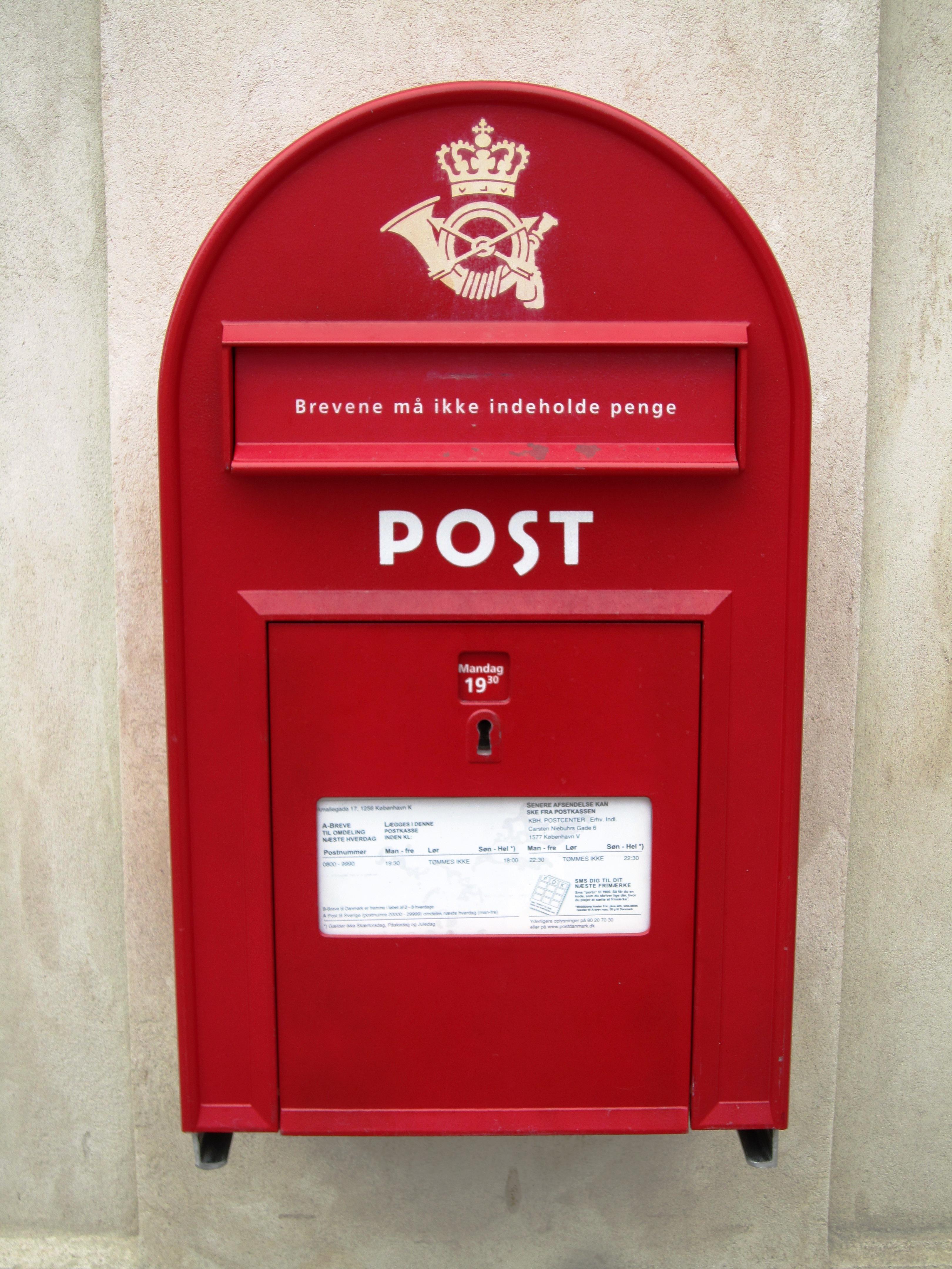 post fra norge til danmark