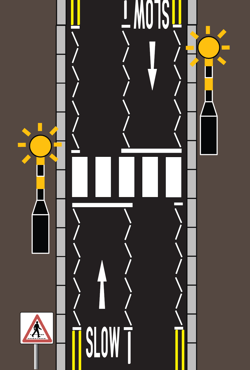 File Diagram Of A Zebra Crossing Layout In Singapore Png