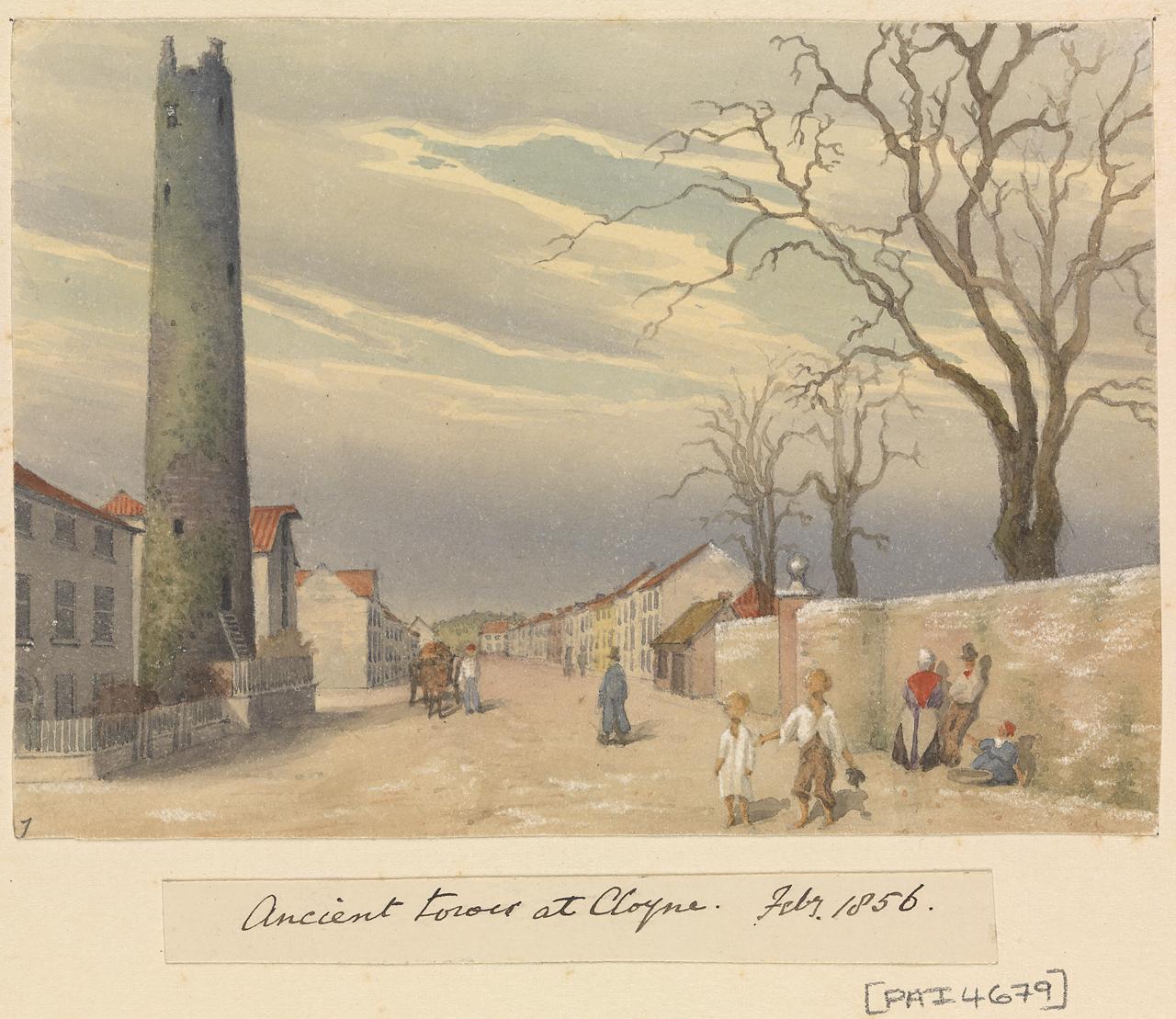 File:Edward Gennys Fanshawe, Ancient Tower At Cloyne, Feby