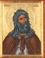 Илия-пророк: внешне изображается похожим на Иоанна— львиная грива волос, власяница из верблюжьей шкуры