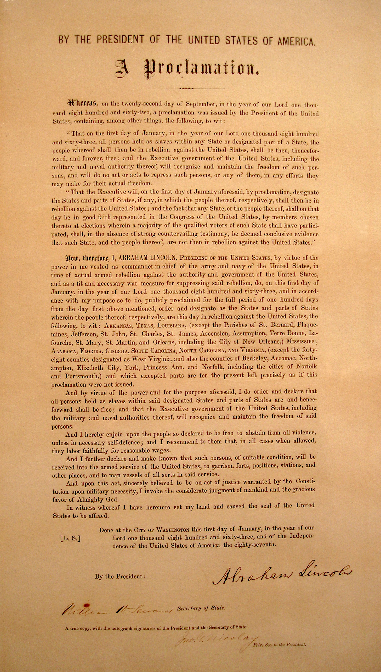 file emancipation proclamation typeset signed jpg  file emancipation proclamation typeset signed jpg