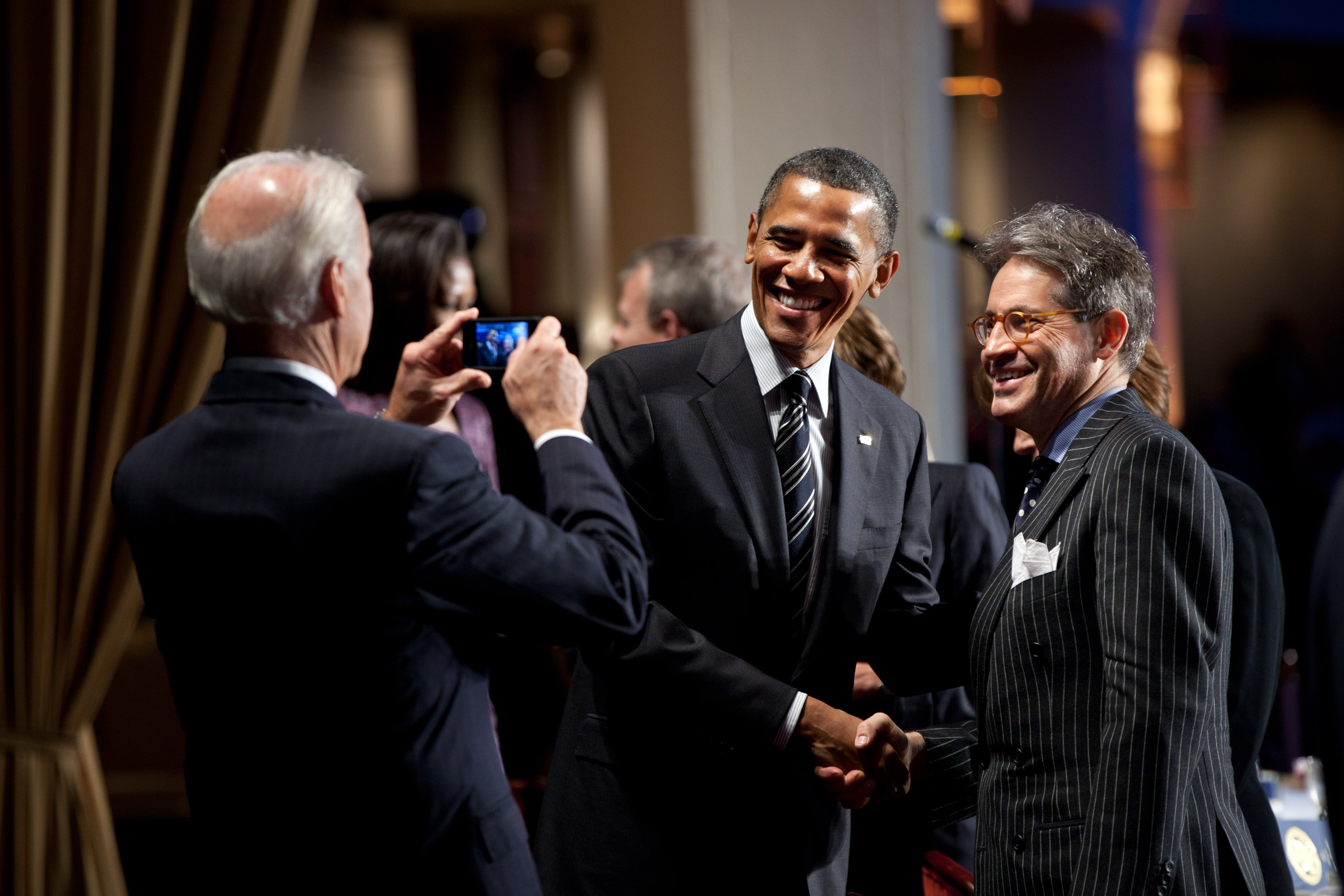 National Prayer Breakfast >> File:Eric Metaxas with Barack Obama and Joe Biden.jpg - Wikimedia Commons
