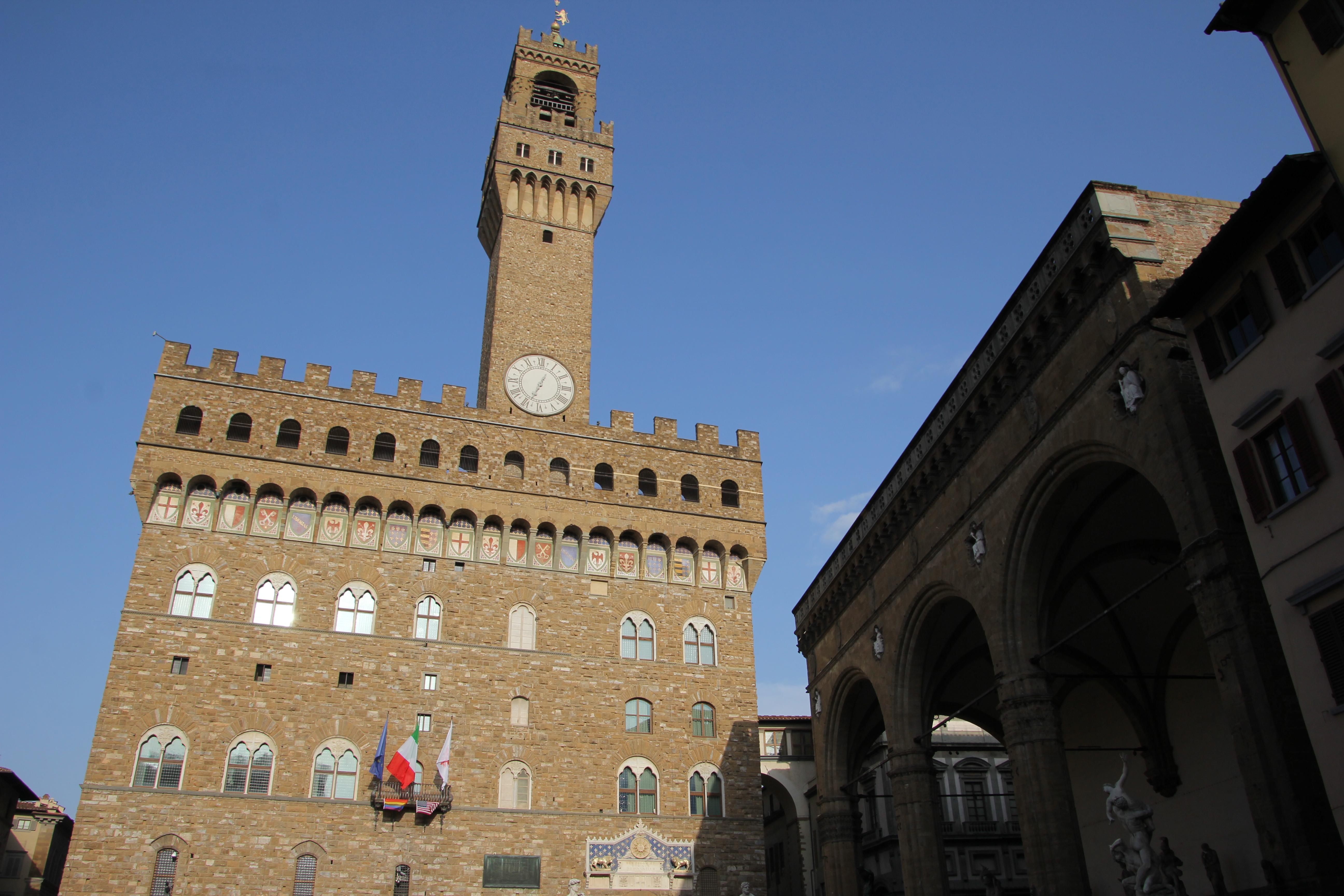Palazzo Vecchio, Loggia dei Lanzi, Piazza della Signoria, Firenze
