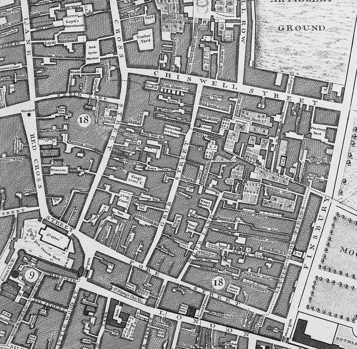 Grub street map
