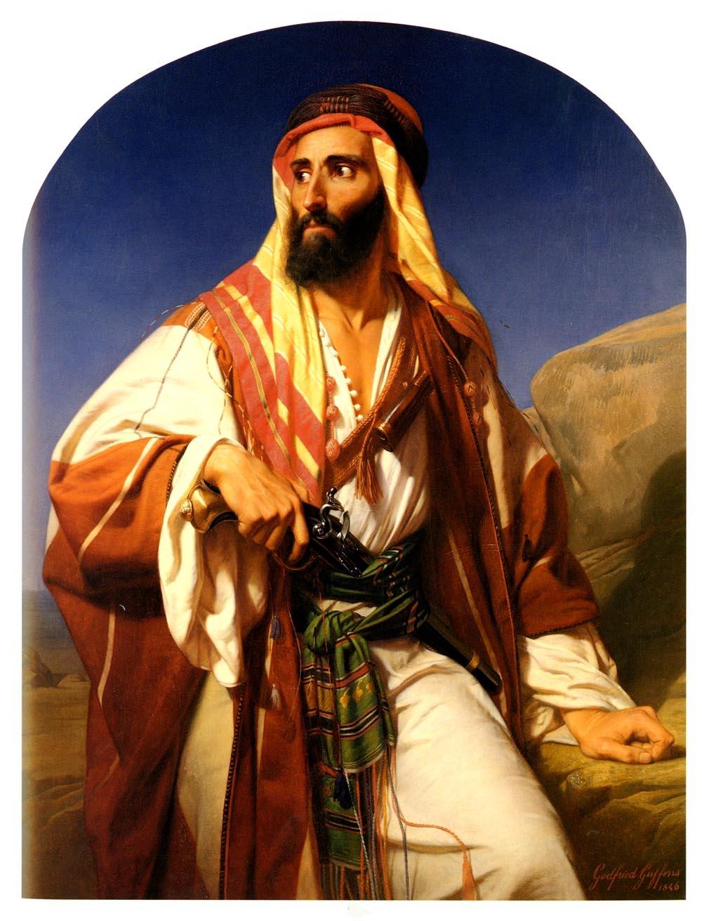 File guffens godfried a bedouin chieftain jpg wikimedia commons