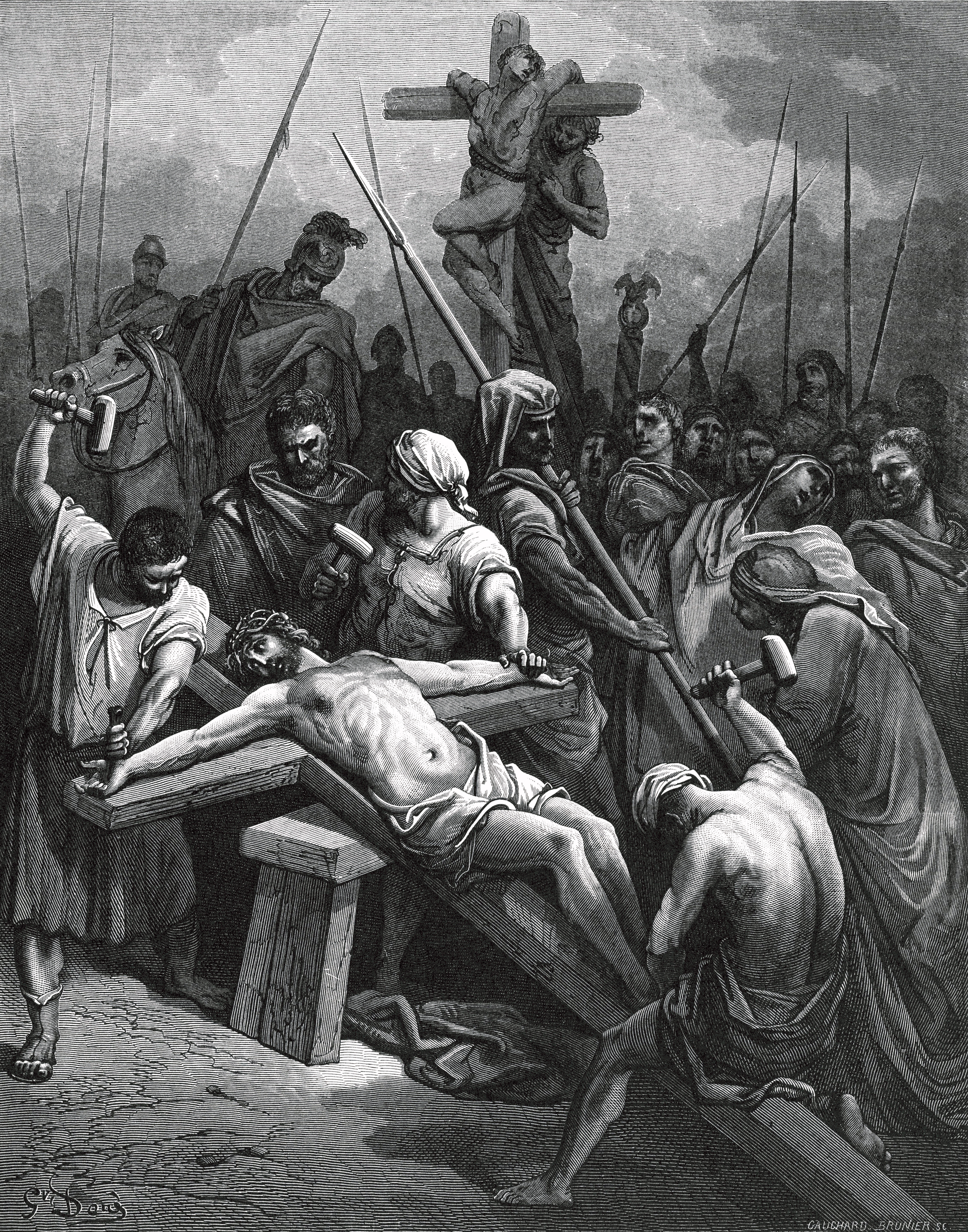 file gustave doré crucifixion of jesus jpg wikimedia commons