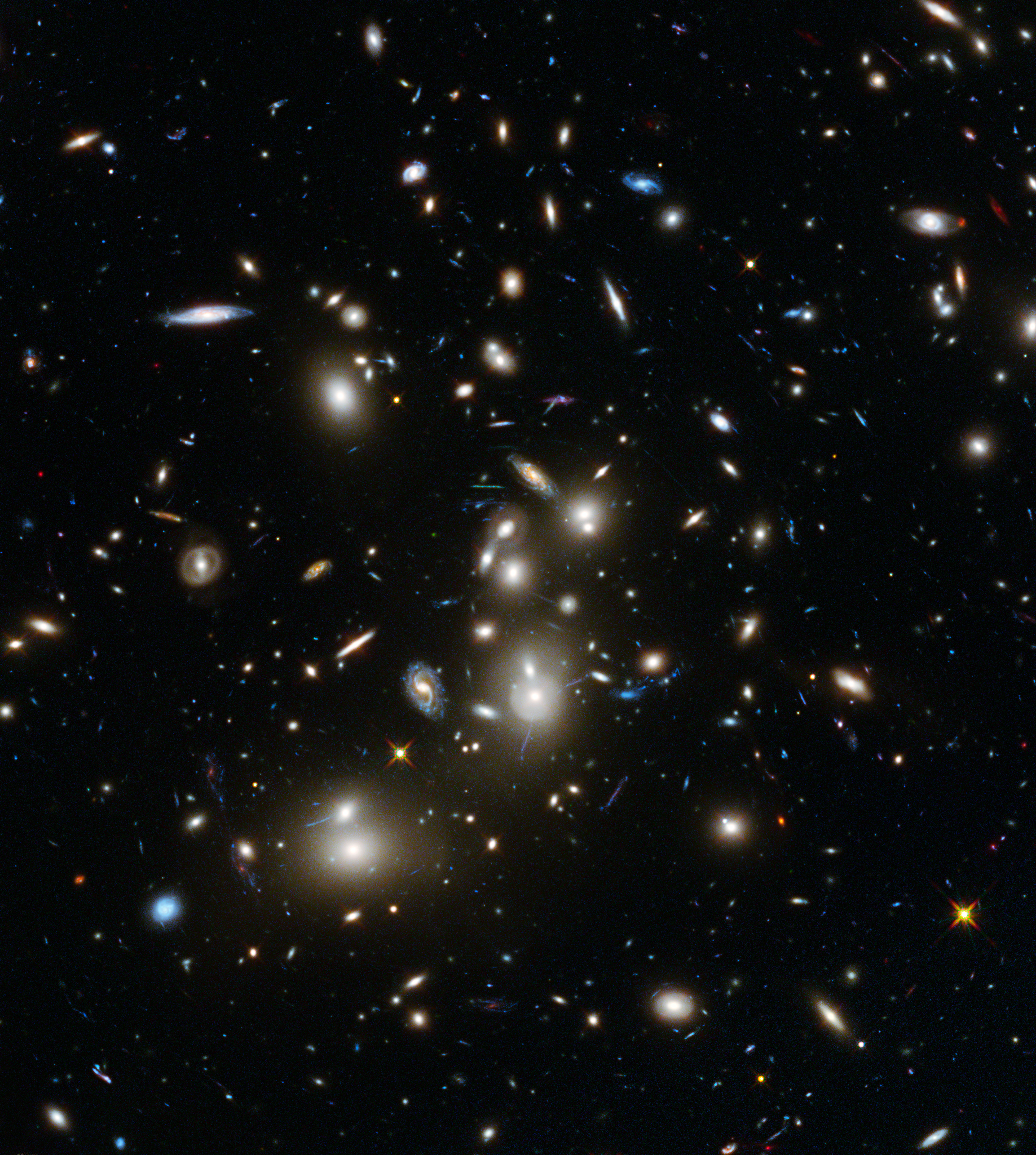 Galaxy cluster. Photo from Wikipedia
