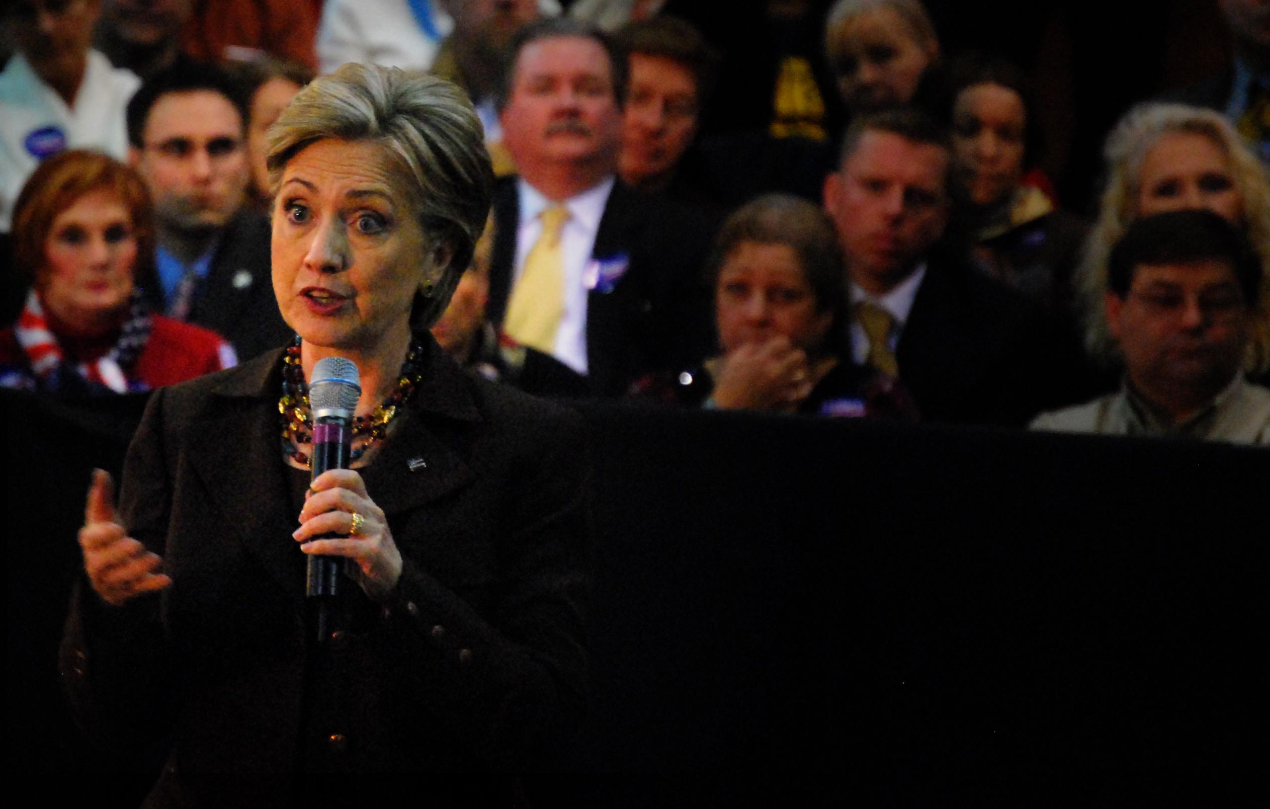 Clinton campaigns in Lorain, Ohio.