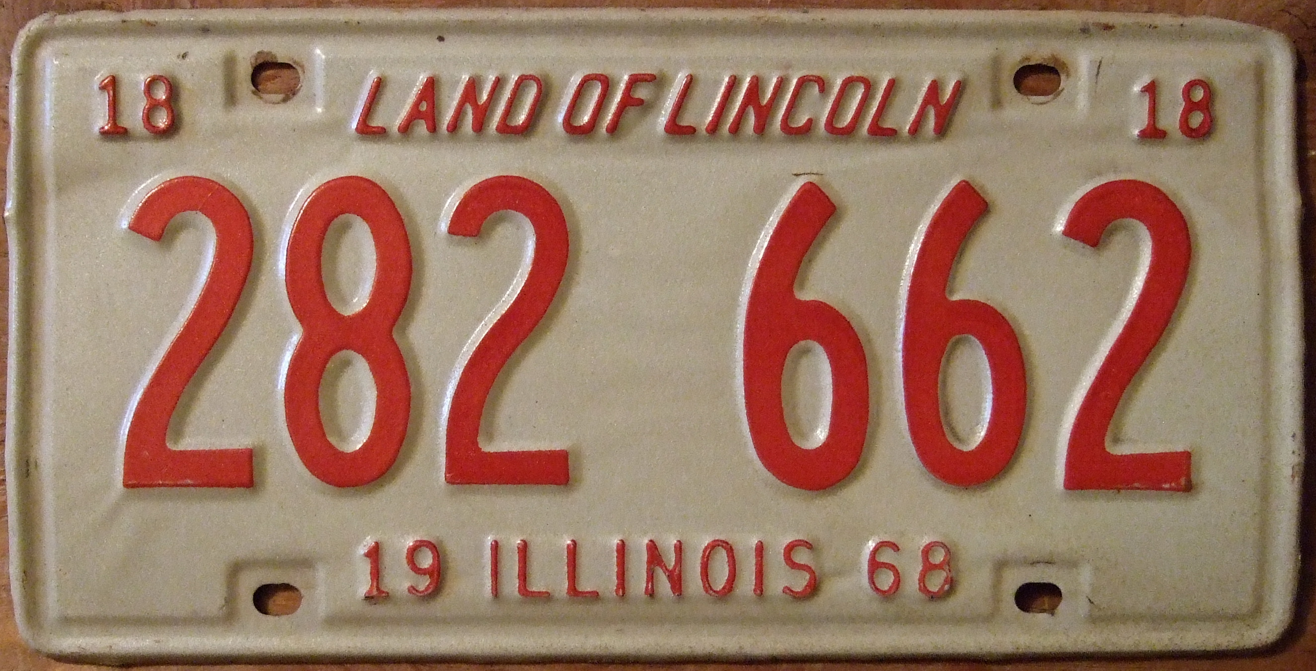 File:ILLINOIS 1968 LICENSE PLATE 282-662 - Flickr - woody1778a.jpg ...
