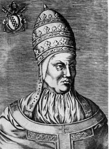Bonifacio IX. Grabado del siglo XVII.