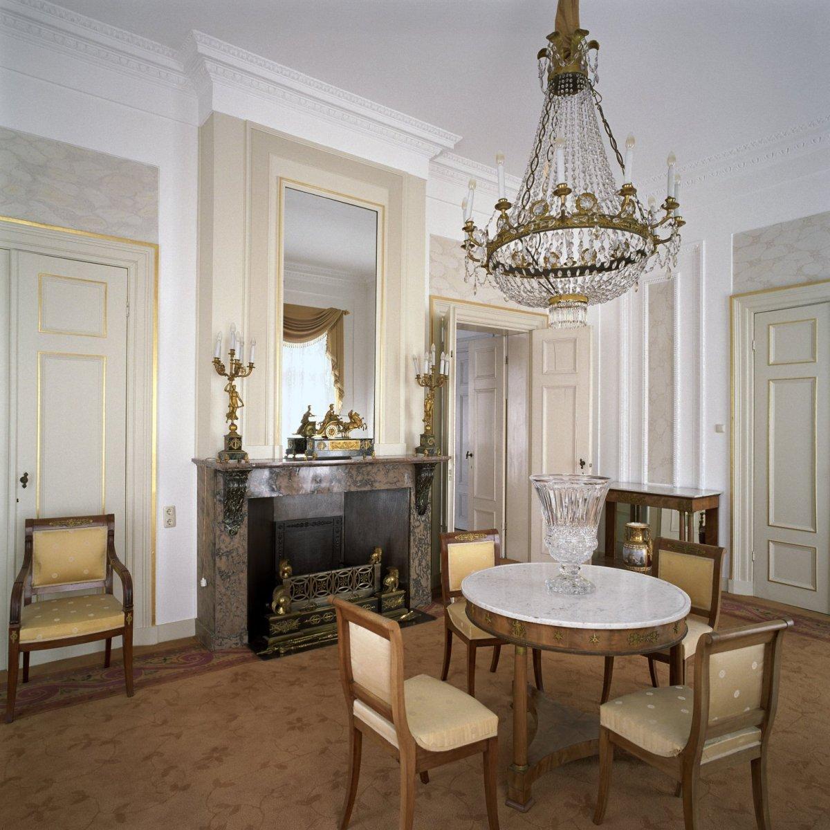 File:Interieur, overzicht van de hoekkamer, een kleine eetkamer, met ...
