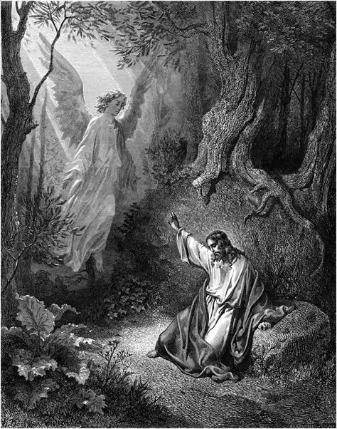 감람산에서 기도하시다 (귀스타브 도레, Gustave Dore, 1865년)