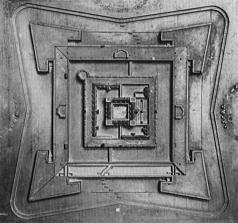 Pasqualinis Urentwurfsmodell der Zitadelle Jülich von 1545, Quelle: Bayerisches Nationalmuseum, München