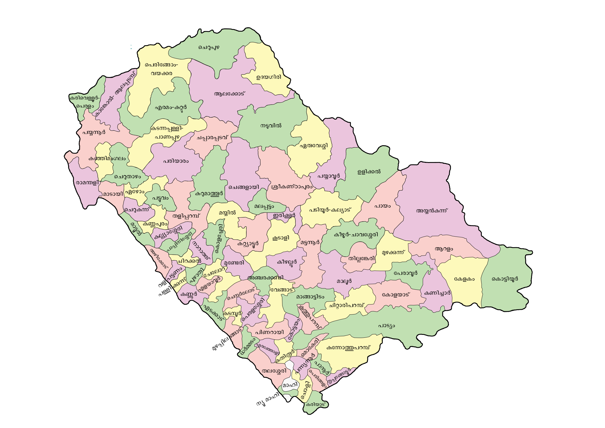 FileKannurdistrictmapmlpng Wikimedia Commons - Kannur map