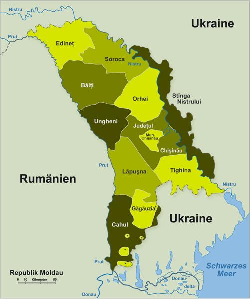 Gebiete in Moldawien