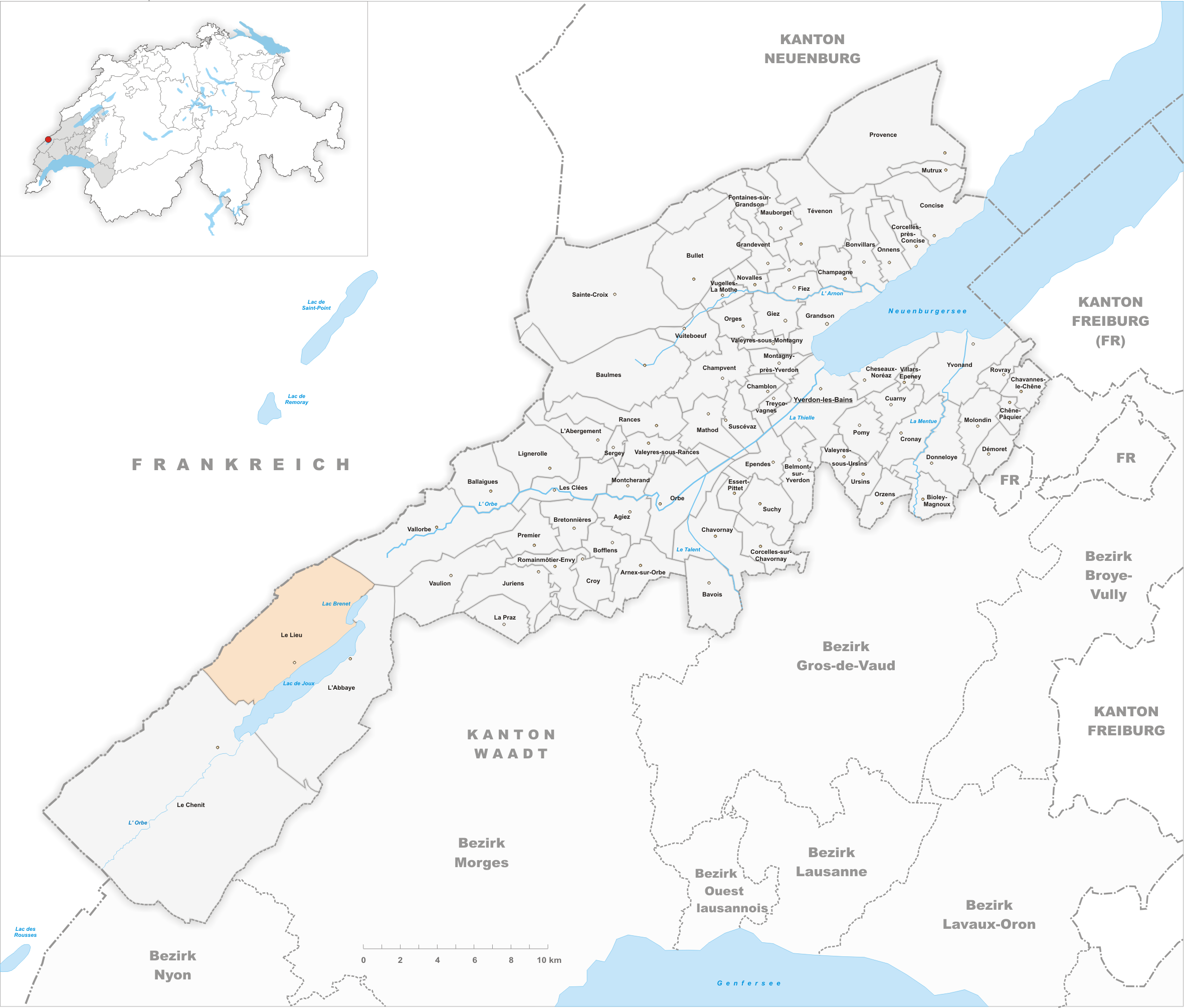 Lieu locator map
