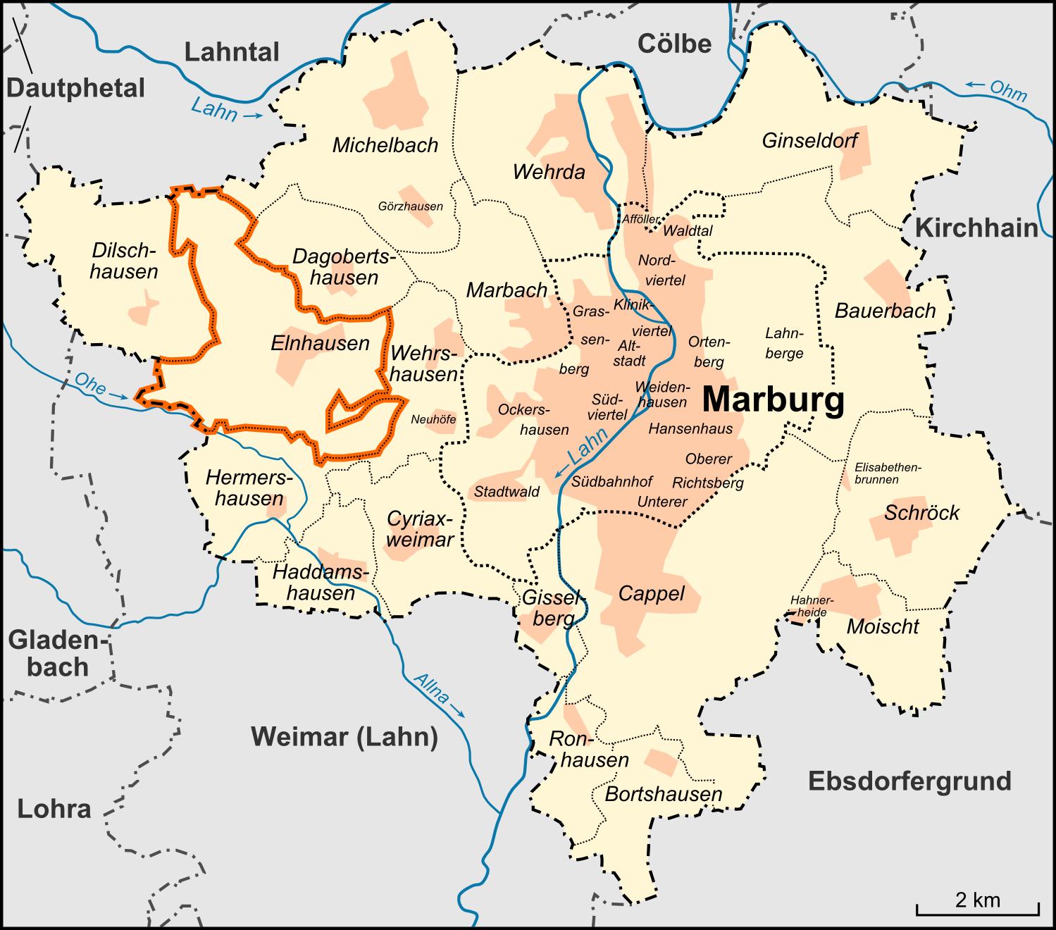 marburg karte Datei:Karte Marburg Stadtteil Elnhausen.png – Wikipedia