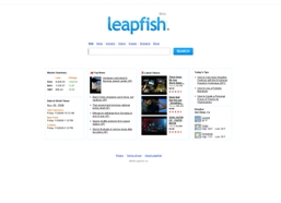 LeapFish Search Engine Screenshot