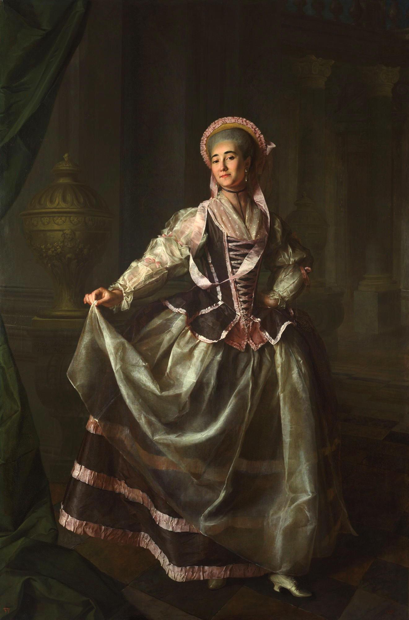Smolyanki: Dmitry Levitsky, Portrait of Alexandra Levschina, 1775, Russian museum, St.Petersburg, Russia.