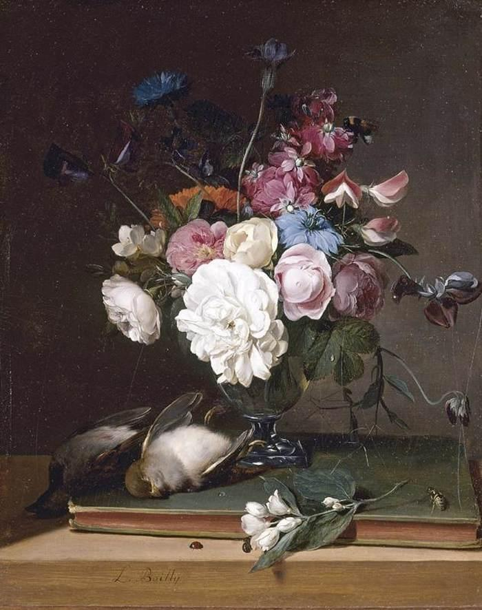 Filelouis Lopold Boilly Still Life Of Flowers In A Glass Vase