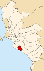 Location of Villa el Salvador in Lima
