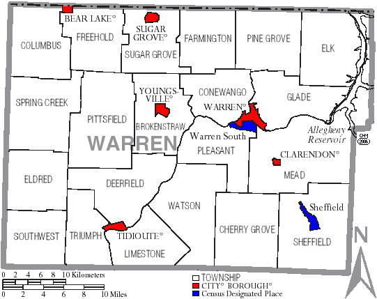 File Map Of Warren County Pennsylvania With Municipal And Township