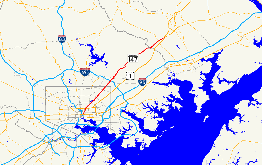 Us Map Baltimore Maryland 2