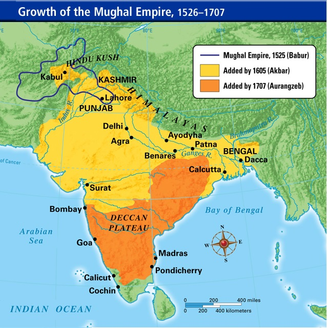 Mughal-empire-map