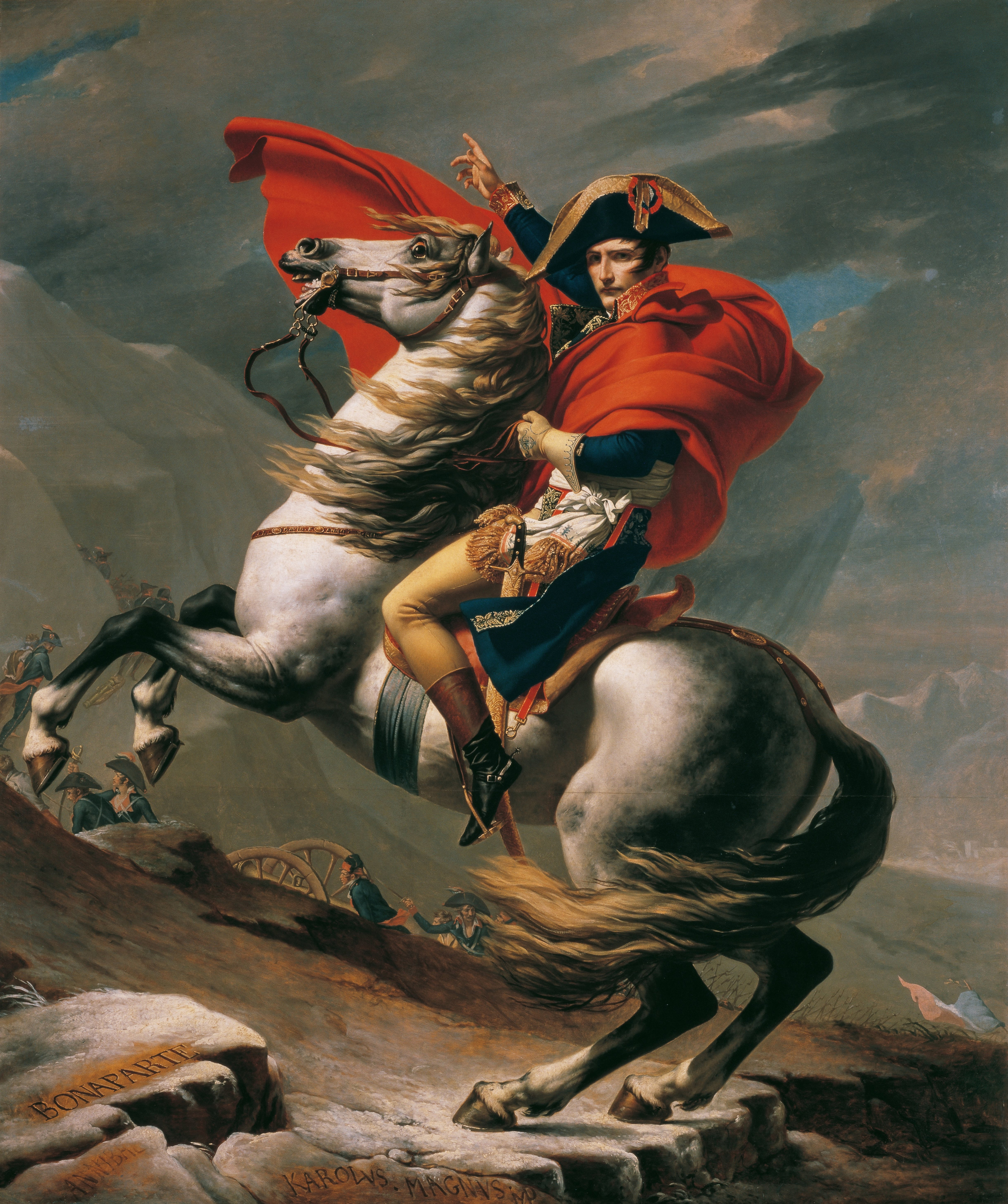 82661dca769 Painting of Napoleon at the Great St. Bernard (1800) by Jacques-Louis David.