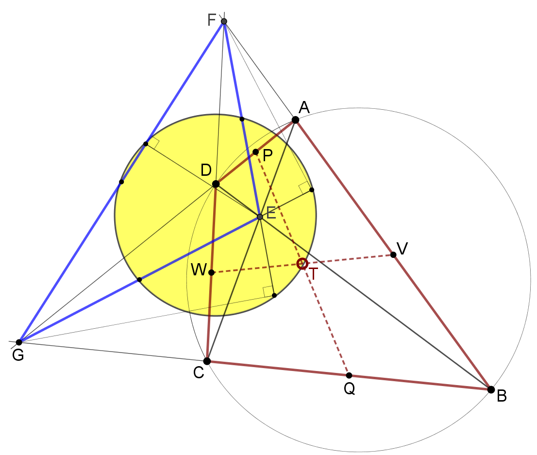 Nine-point circle of diagonal triangle.png